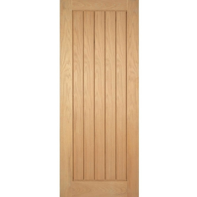 LPD Internal Oak MEXICANO Pre-Finished Vertical Panel Flush Door