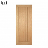 Internal Oak MEXICANO Pre-Finished Vertical Panel Flush Door