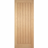 LPD Internal Oak MEXICANO Pre-Finished Vertical Panel Flush Fire Door FD30