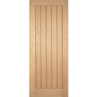 LPD Internal Oak MEXICANO Vertical Grooved Flush Door