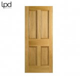 Internal Oak Nostalgia 4 PANEL Victorian Style Door