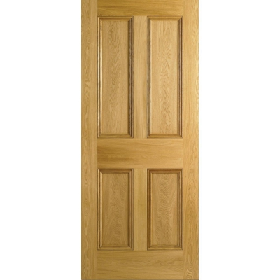 LPD Internal Oak Nostalgia 4 PANEL Victorian Style Fire Door FD30