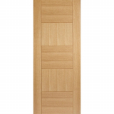 LPD Internal Oak QUEBEC Pre-Finished Flush Fire Door FD30