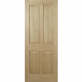 LPD Internal Oak REGENCY Pre-Finished Traditional 4 Panel Fire Door FD30