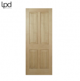 Internal Oak REGENCY Pre-Finished Traditional 4 Panel Door