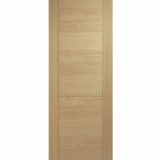 LPD Internal Oak VANCOUVER Pre-Finished 5 Panel Flush Fire Door FD30