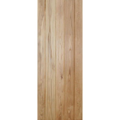 LPD Internal Solid Oak Button Bead Ledged Door