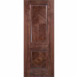 LPD Internal Walnut MADRID Pre-Finished 2 Panel Fire Door FD30