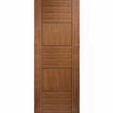 LPD Internal Walnut QUEBEC Pre-Finished Flush Fire Door FD30