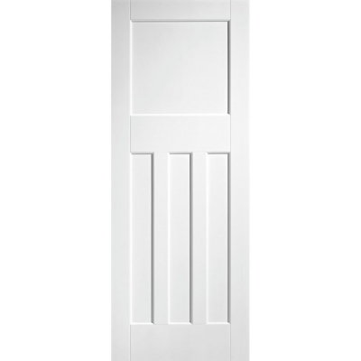 LPD Internal White Primed DX 1930s Edwardian Style 4 Panel Fire Door FD30