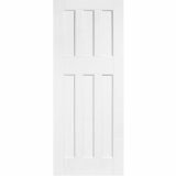 LPD Internal White Primed DX 1960s Style 6 Panel Fire Door FD30