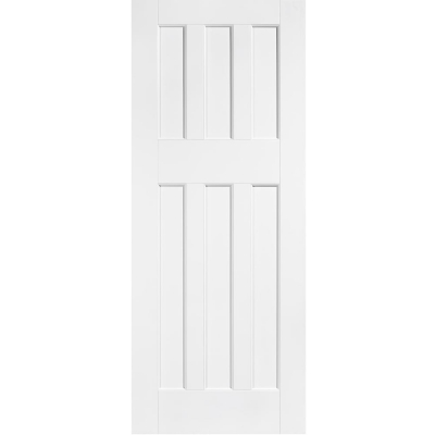 LPD Internal White Primed DX 1960s Style 6 Panel Door