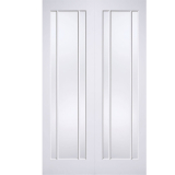 LPD Internal White Primed Lincoln 3 Panelled Glazed Door Pair