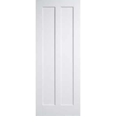 LPD Internal White Primed MAINE 2 Panel Fire Door FD30