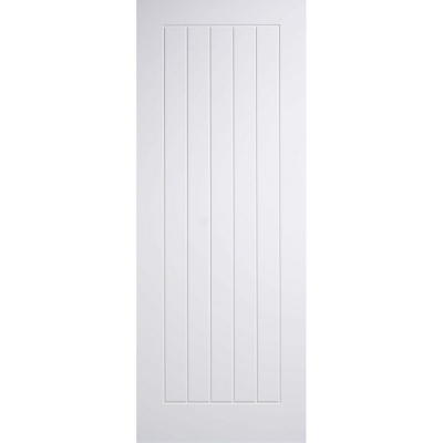 LPD Internal White Primed MEXICANO Vertical Panel Flush Door