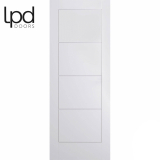 LPD Internal White Primed Moulded Ladder Panelled Door