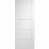 LPD Internal White Primed VANCOUVER 5 Panel Flush Fire Door FD30