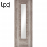 LPD Internal Light Grey Laminate Ottawa Flush Glazed Door