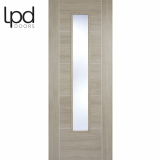 LPD Internal Light Grey Laminate Vancouver 5 Panelled Glazed Door
