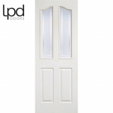 LPD Internal White Primed Mayfair 2 Glazed Panelled Door