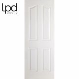 LPD Internal White Primed Mayfair 4 Panelled Door