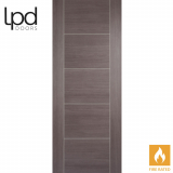LPD Internal Medium Grey Laminate Vancouver 5 Panelled Fire Door