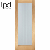 LPD Internal Oak Mexicano Pre-Finished Pattern 10 Glazed Door