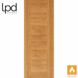 LPD Internal Oak Laminate Ottawa Flush Fire Door