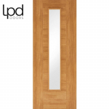 LPD Internal Oak Laminate Ottawa Flush Glazed Door
