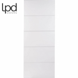 LPD Internal White Primed Horizontal Smooth 5 Panelled Door