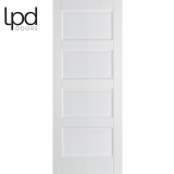 LPD Internal Contemporary White Textured 4 Panelled Door