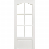 LPD Internal White Kent Primed 6 Panelled Glazed Door