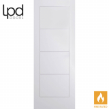 LPD Internal White Primed Moulded Ladder Panelled Fire Door
