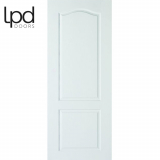 LPD Internal White Primed Textured Classical 2 Panelled Fire Door