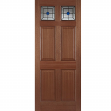 Mendes External Hardwood Colonial Top Light Lead Triple Glazed Door