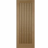 Mendes Cottage Internal Oak Un-Finished Grooved Flush Fire Door