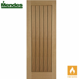 Mendes Mexicano Internal Un-Finished Oak Grooved Fire Door