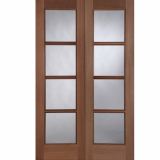 Mendes External Hardwood External Pattern 70 Un-Glazed Door Pair