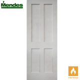 Mendes White Primed Oak Essex 4 Panelled Fire Door