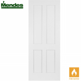 Mendes White Primed Shaker 4 Panel Fire Door