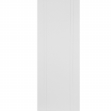 Mendes White Primed Capri Flush Grooved Door