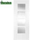 Mendes White Primed ISEO 4 Light Glazed Fire Door
