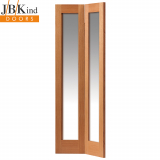 Internal Oak Fuji Shaker Clear Glazed Bi-Fold Door