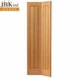 Internal Oak Thames II Recessed Vertical Panel Bi-Fold Door