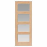 JB Kind Internal Oak NEVIS 4 Light Clear Glazed Door