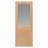 JB Kind Internal Oak Thames 1/2 Light Glazed Door