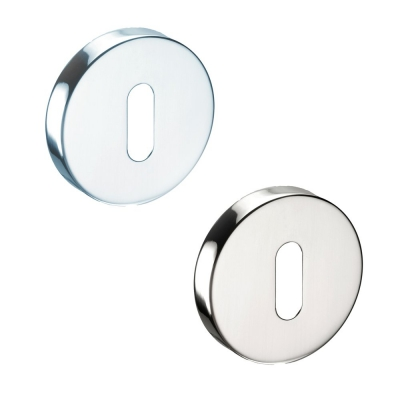 Pair of Devon Stainless Steel Door Escutcheons