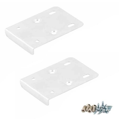 Pair of White Hinge Repair Plates