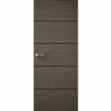 Premdor Internal CHARCOAL GREY Horizontal 4 Line Flush Fire Door FD30