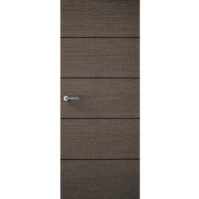 Premdor Internal CHARCOAL GREY Horizontal 4 Line Flush Door